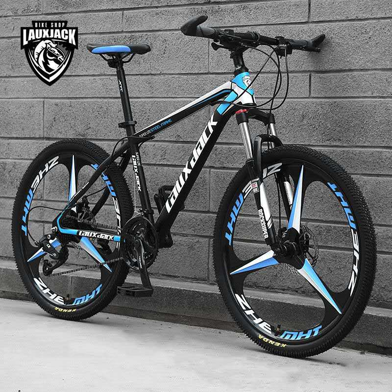 Mountain Bike Trail Bikes Bicycle 26 27 Speed Men MTB Lightweight Carbon Steel Frame Dual Suspension Disc Brake image