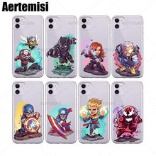 Aertemisi Ant-Man và Ong Bắp Cày Đen Panther Quả Phụ Cáp Captain Marvel Mỹ Tàn Sát COLOSSUS Deadpool Doctor Doom Lạ drax Clear TPU Ốp Lưng cho iPhone 6 6 S 7 8 Plus X XS XR 11 Pro Max(China)
