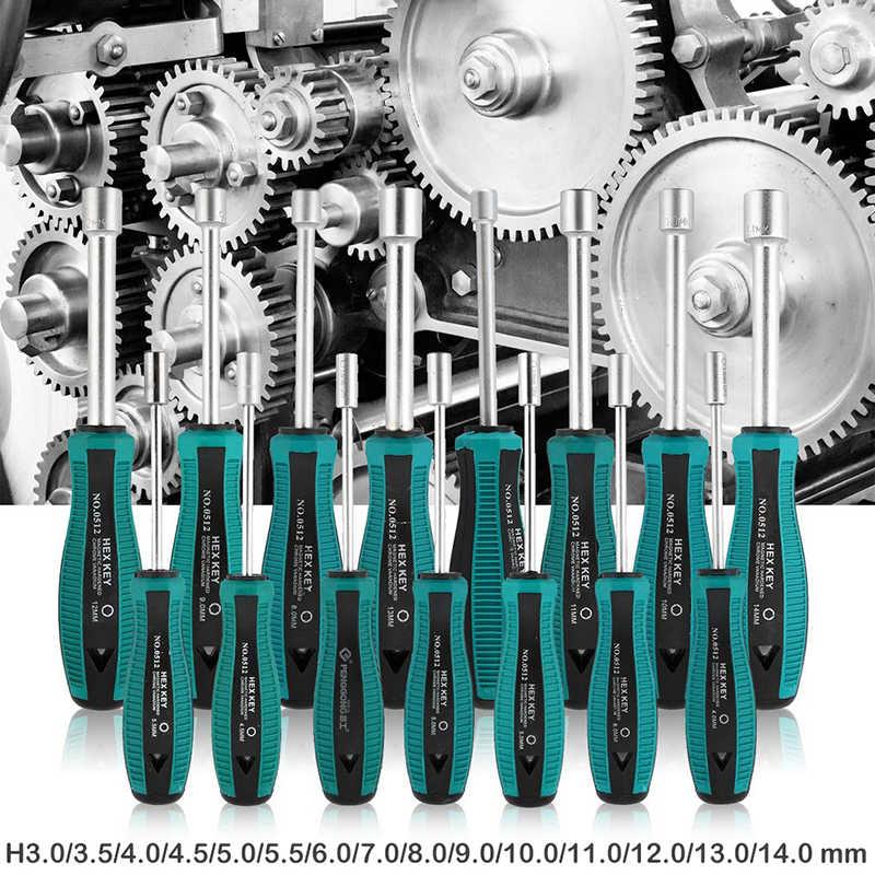 3 ミリメートル-14 ミリメートルソケットレンチドライバー防錆金属六角ナットキー手動工具ドライバー用ホーム木工