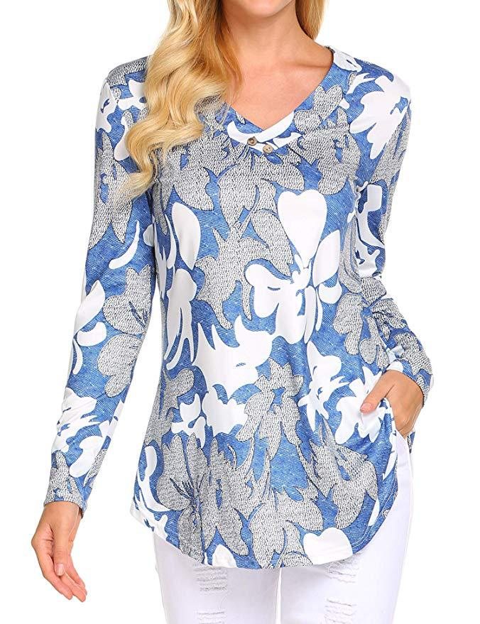 Hd90febef9163464594eae06d89dd1cfe7 - Large size Blouse Women Floral Print Long Shirts elegant Long Sleeve Button Autumn Tunic Tops Plus Size Female Clothing