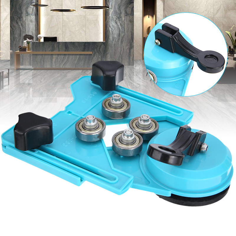 4-83mm Clamping Range Drill Guide Vacuum Base Sucker Tile Marble Hole Locator Saw Glass Openings Locator For Construction Tool