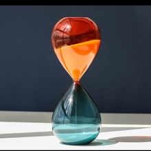 5/15/30/60 Min Two-color Hourglass Timer Home Decor Desk Living Room Decoration Kitchen Tools Glass Crafts Gifts Sand Timer