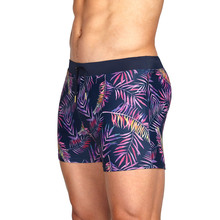 Swimming-Trunks Swimwear Boxer-Shorts Bath Surf with Pocket Tight-Pouch Leaves Hombre