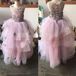 Платье принцессы для девочек детские праздничные платья с оборками для маленьких девочек на свадьбу торжественное длинное платье Пышное