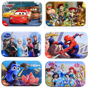 Genuine Marvel Avengers Spiderman Toy Story Puzzle Toy Children Wooden Jigsaw Puzzles Kids Educational Toys for Children Gift(China)