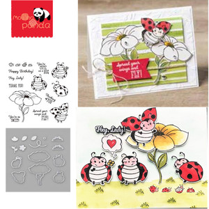 MP077 LITTLE LADYBUG Metal Cutting Dies and Stamps Stencils for DIY Scrapbooking Album Stamp Paper Card Embossing New 2019(China)