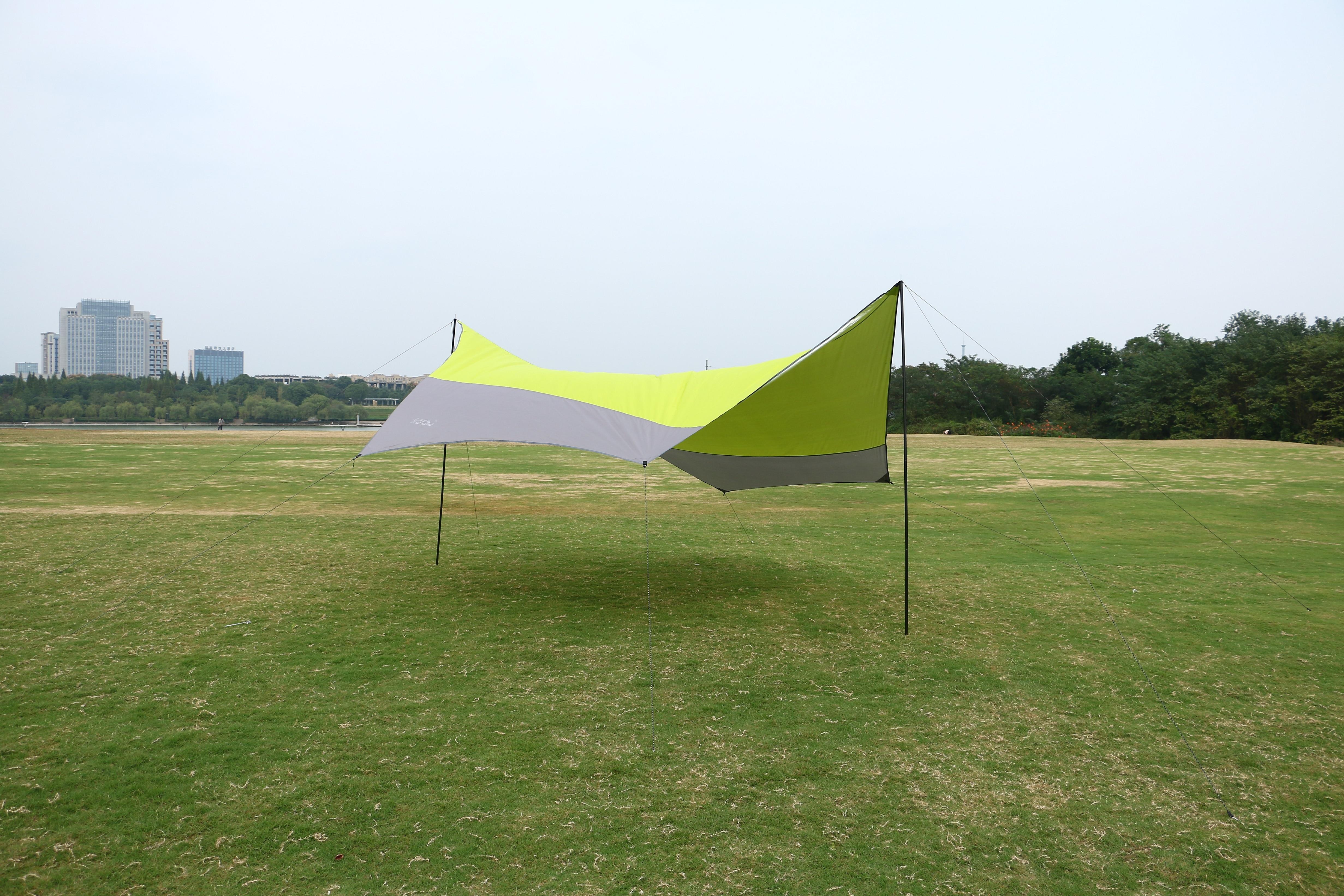 Outdoor zonwering doek voor 5 mensen chatten en thee 5 meter open maat gebruikt in camping en picknick, gratis verzending - 3