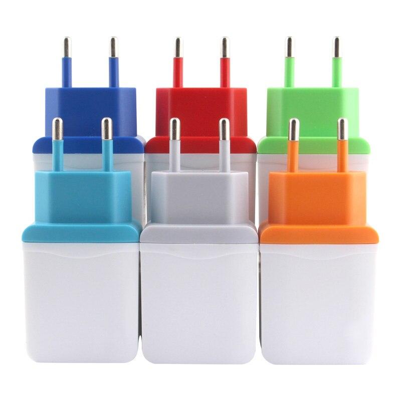 Charger plug 5v USB Power Adapter EU Plug Wall Universal Travel portable Charging Mobile Phone Cable