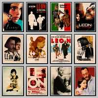 LAITANG Wall Stickers Leon The Professional Vintage Movie Poster Retro Poster Wall Decoracion Pared Home Decor Decoration