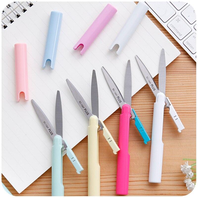 Portable Folding Craft Scissor Mini Pen-type Scissor Multifunctional Household Manual Paper Scissors