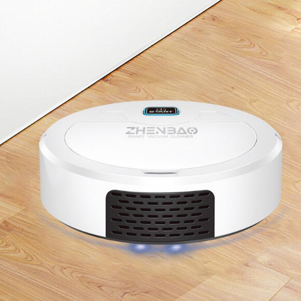 3.7V 3W Robot Vacuum Cleaner with Max Power Suction for Hard Floors, Carpets and Pet Hair, USB Charging, Quiet