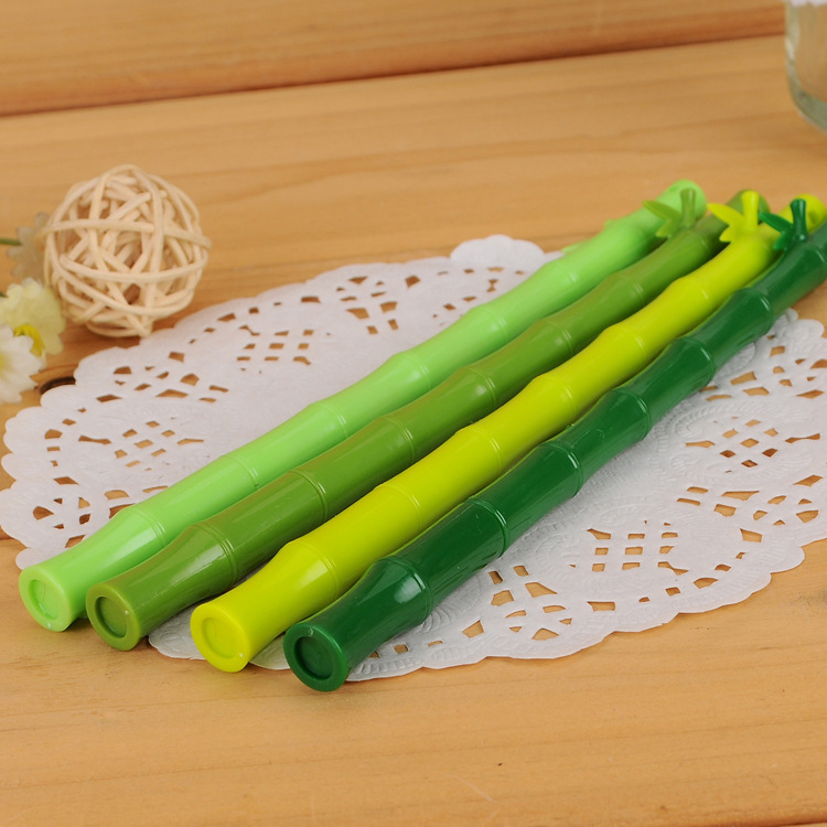 Cartoon Modeling Bamboo medium Pen 0 5mm Black signature Water Pen Stationery for Primary and Middle School students