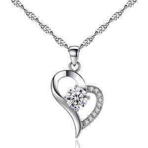 Очаровательное ожерелье с подвеской в форме сердца, модное женское ожерелье для свадебной вечеринки, ювелирные изделия, подарки на новый го...