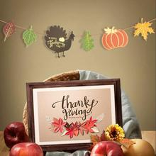 Happy Thanksgiving Banner Paper Cute Maple leaves Turkey Pumpkin Thanks Giving Day Thanks Giving Fall Autumn Decorations New giving blood
