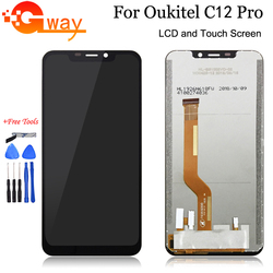 """6.18 """"dla wyświetlacza LCD Oukitel C12 Pro + montaż digitizera ekranu dotykowego 100% testowany zamiennik dla C12 pro LCD + darmowe narzędzia w Ekrany LCD do tel. komórkowych od Telefony komórkowe i telekomunikacja na"""
