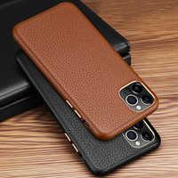 Xoomz original caso capa para iphone 11 pro max capa de couro genuíno de luxo caso de volta para apple iphone 11/pro/max telefone capa