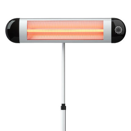 AC110-240V 2500W plancher électrique plus chaud infrarouge lointain technologie de chauffage électrique plus chaud autoportant avec télécommande et temps