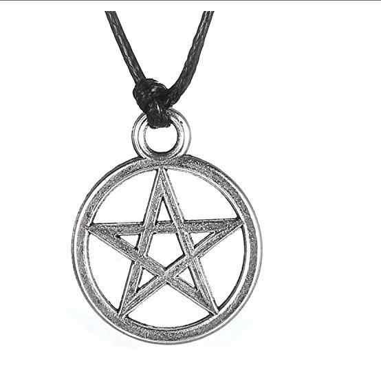 SOUARTS 1 sztuk moda czarny ze stali nierdzewnej kobiety stylowe antyczne srebro Hollow Pentagram wisiorek w kształcie gwiazdy naszyjnik mężczyźni łańcuch prezent