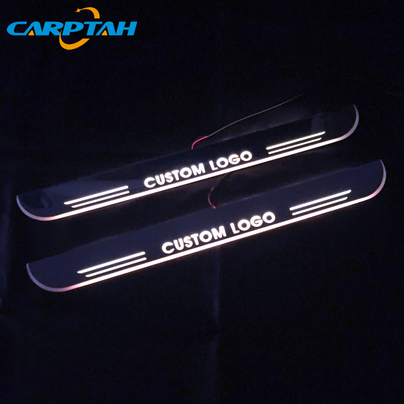 SNCN <font><b>Trim</b></font> Pedal <font><b>LED</b></font> Car Light Door Sill Scuff Plate Pathway Dynamic Streamer Welcome Lamp For VW Volkswagen <font><b>Golf</b></font> 6 MK6 2009-13 image