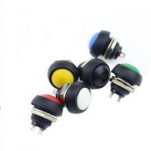 Черный/красный/зеленый/желтый/синий 12 мм водонепроницаемый Мгновенный кнопочный переключатель