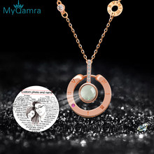 MYQAMRA s925 Silver Necklace Jewelry Projection Pendant Gold chain For Women Gift Wedding Custom Personalized Name Necklaces(China)