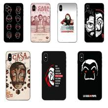 Spain Tv Money Heist Mask Poster For Xiaomi Mi Mix Max Note 2 2S 3 5X 6 6X 8 9 9T SE A1 A2 A3 CC9e Lite Play Pro F1(China)