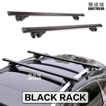 back Rails Universal 135CM Car Roof Racks Cross Bars Crossbars 75kg 150LBS For Car With Side Work With Kayak Cargo Ski Racks image