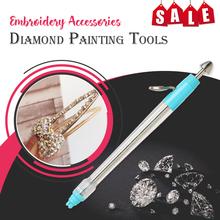 Diamentowy długopis do malowania Bling go na akcesoria do haftu diamentowe narzędzia malarskie diy narzędzia dekoracyjne tanie tanio Other Kolorowe pudełko Wielu zdjęcie połączenie Akrylowe Pełna W paski Zwinięte 1-30 Okrągły CLASSIC 3mm Round Diamond