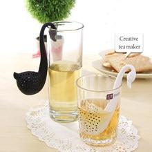 Petite machine à thé domestique petit cygne, filtre à thé de cuisine, matériau sûr, compagnon de thé, outil de cuisine multifonctionnel