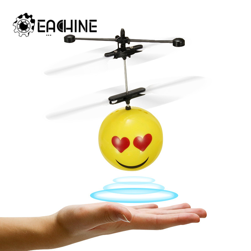Mini Drone Hand Induction Flying Ball Facial Expression Toy Funny RC Helicopter Aircraft For Kid Toys Present Gift Flying Toys