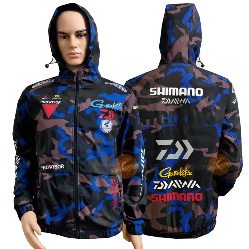 Daiwa Men's Fishing Clothes Sun Protection Casual Coats Hooded Fishing Jacket Camouflage Fashion Male Outwear Fishing Clothing