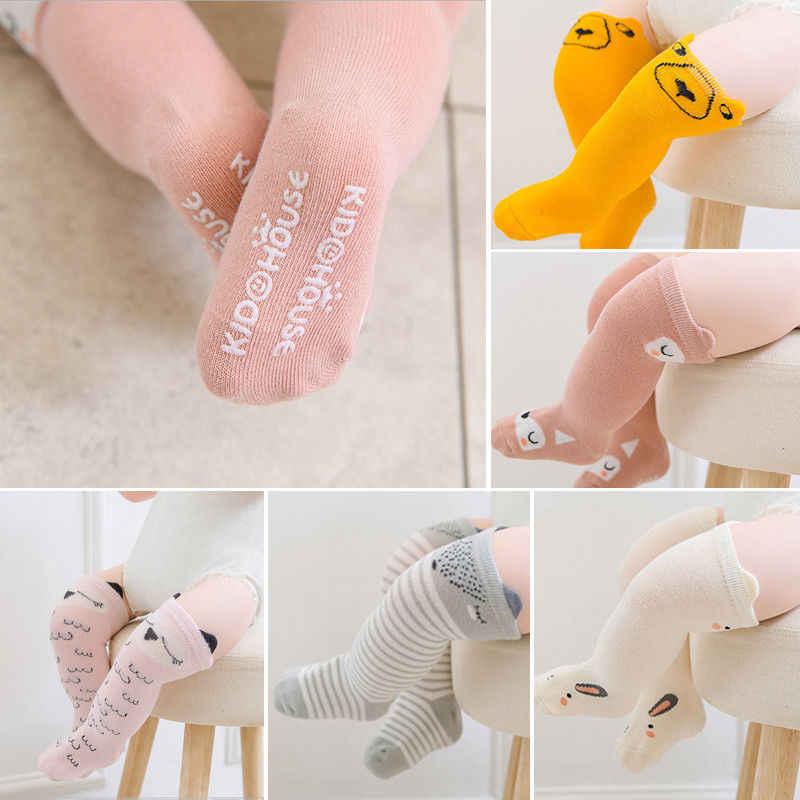 8 สไตล์น่ารักน่ารักทารกแรกเกิดเด็กวัยหัดเดินเด็กหญิงเด็กชายฝ้ายพิมพ์ Panty Hose เข่าถุงน่อง 0-4 ปี