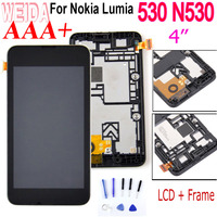 "WEIDA 4"" For Nokia Lumia 530 N530 LCD Display Touch Screen Digitizer Assembly Frame with Tool RM 1017