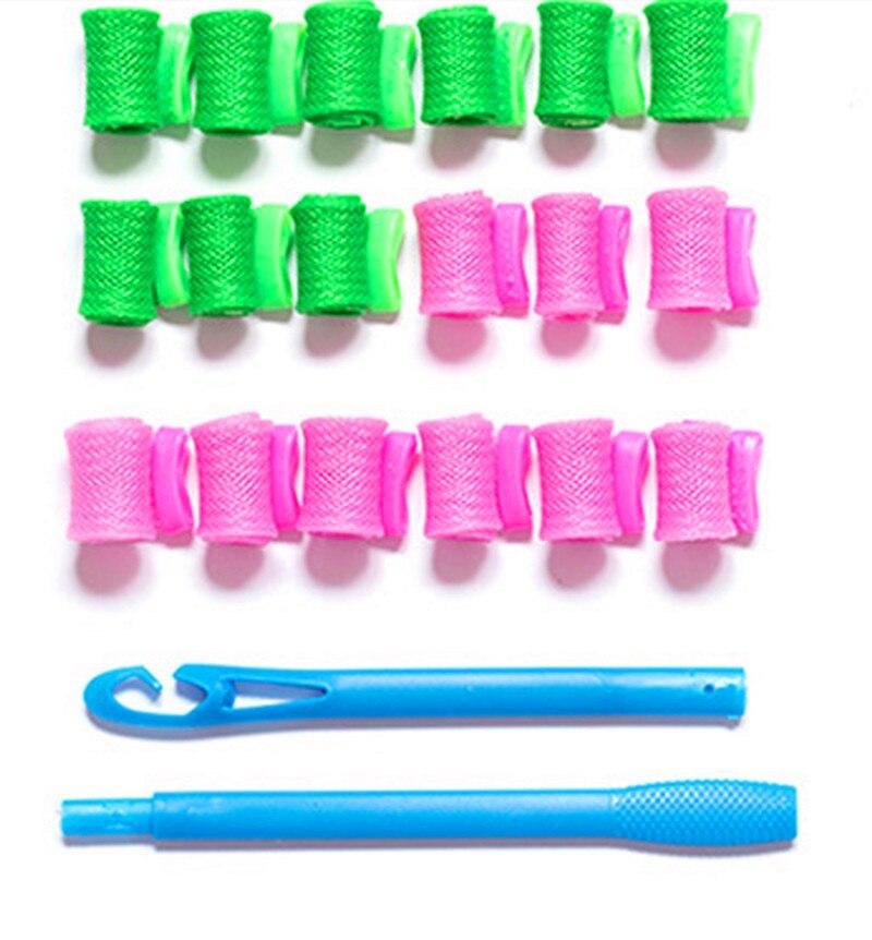 12pcs/18pcs/30cm/45cm Long Magic Hair Roller  Curlers Spiral Curls Soft Magic Curle Hair Rollers DIY Hair Styling Curl Tools
