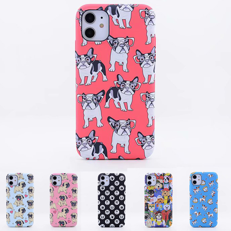 LUXO Cute Animal Dog Pattern Soft TPU Phone Protective Case Cover for iPhone 11 11 Pro 11 pro Max
