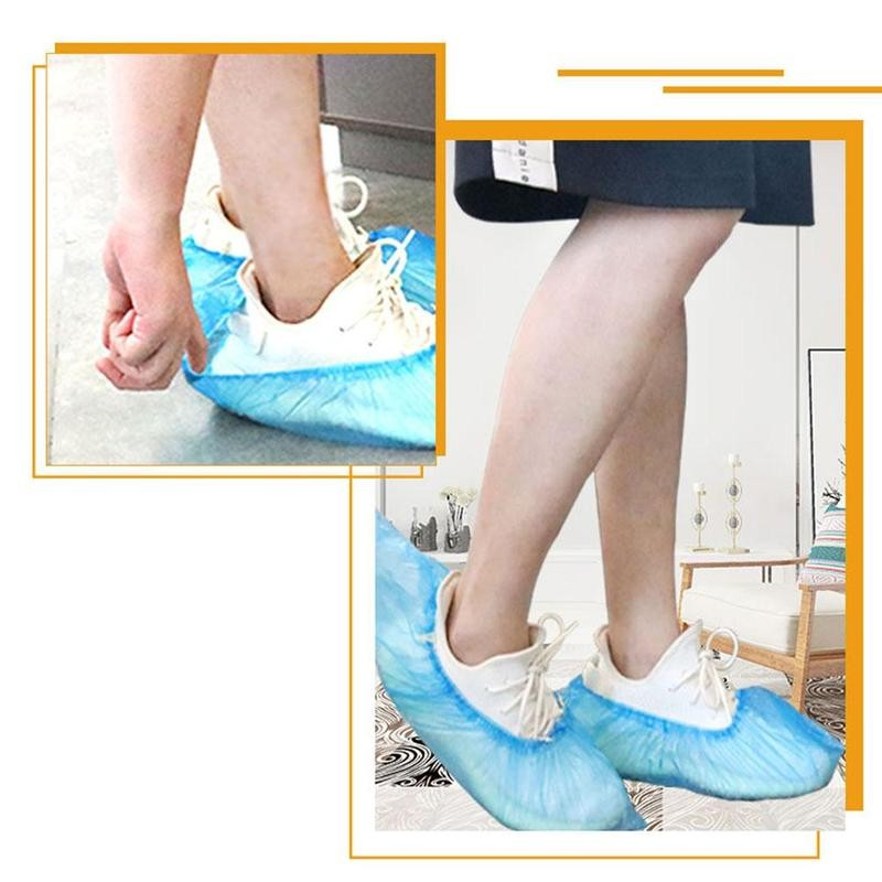 100pcs On Disposable Shoe Cover Waterproof Protective Disposable Shoe Covers