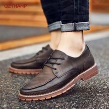 2018 Casual PUรองเท้าหนังผู้ชายสีดำรองเท้าบุรุษผู้ชายMartinsรองเท้าผู้ชายOxford Krasovkiรองเท้าหนังนิ่มผู้ชายรองเท้าสูงคุณภาพ