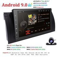 1080 HD 9'' Car Navigation Multimedia Android 9.0 Car GPS Radio Player For BMW E39 X5 E53 Autoradio 2+16G WIFI DVR RDS SWC OBD