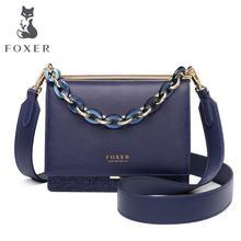 FOXER, Брендовые женские сумки через плечо, сумка через плечо, дизайн, Дамская мода, блестящий спилок, кожаные сумки для женщин, подарок на день Святого Валентина