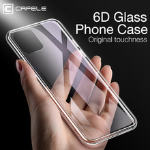 Cafele Original Glass Phone Case For iPhone 11 Pro Max Tempered Cover MAX  Transparent Thin