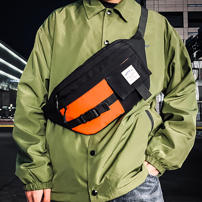 Unisex Waist Bag Large Capacity Streetwear Fanny Pack Chest Bags Trend Hip Hop Banana Crossbody Bag Functional Waist Pack