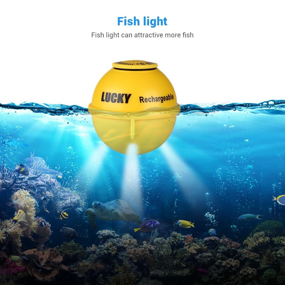 LUCKY  FF718LiC-W Fish Finder Wireless Fishfinder Fishing Sonar 45M/147Feet Depth Sounder Echosonda Echolot Echo Sondeur Deeper 4