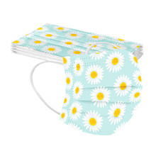 Disposable Mask Face-Cover Protective Flower-Print Adult Mascarilla Dustproof Dustproof