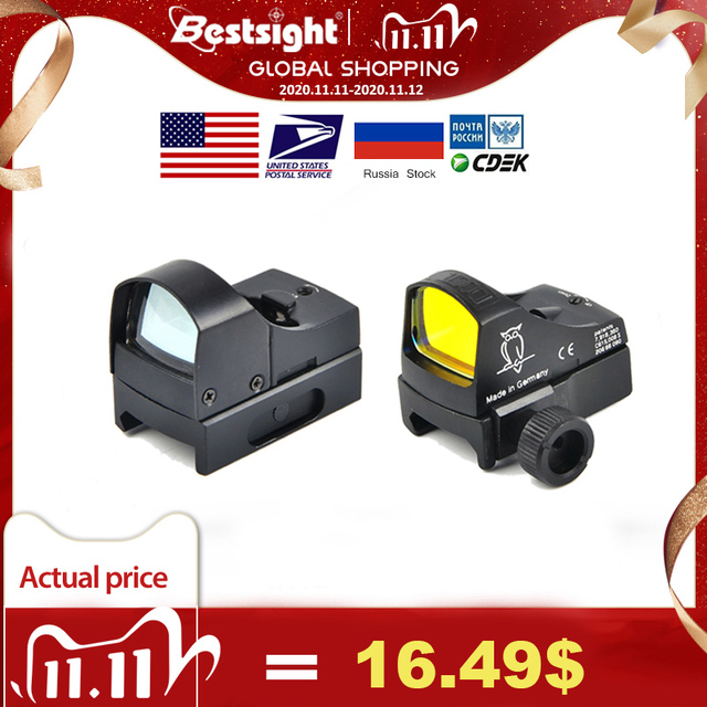 D III Sight Red Dot tüfek kapsam mikro nokta refleks holografik nokta Sight optik avcılık kapsamları Airsoft tüfek Mini nokta