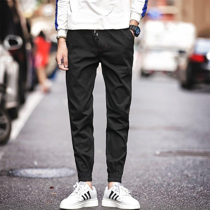 2019 New Style Spring And Autumn Men's Closing Foot Zip Pants Men's Korean-style Slim Fit Teenager Casual Versatile Trousers Men