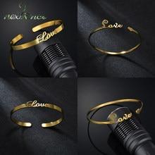 Nextvance or acier inoxydable mode réglable coeur Bracelet en gros pour les femmes amant cadeau d'anniversaire bijoux livraison directe