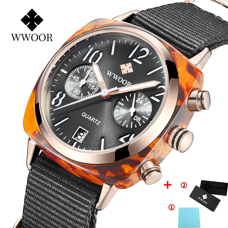 Image 2 - Top Luxury Brand WWOOR New Lady Nylon watch three eye fashion watch factory waterproof Quartz female watches women montre hommeWomens Watches   -