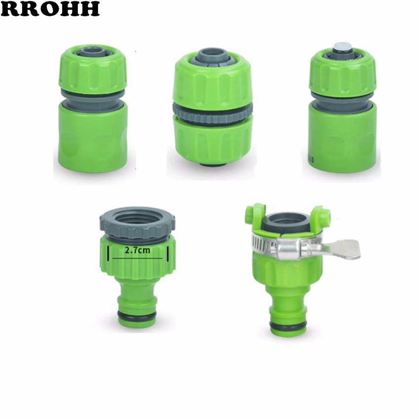 Household Water Pipe Joint 4mm /6mm Water Quick Connect Plastic Fast Water Stop Joint Pipe Water Gun Joint Fittings