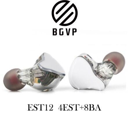 Bgvp ES12 ünitesi özelleştirilmiş dört statik elektrik demir Knowles ses özel model hifi kulak ateşi kulaklık