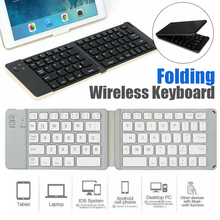Portable English bluetooth Wireless Keyboard Mini Folding Wireless Keypad For IOS Android Windows ipad Tablet phone membrane keypad for 6av3637 1ml00 0gx0 slemens op37 membrane switch simatic hmi keypad in stock